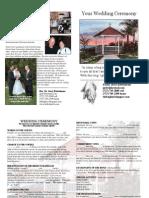 Pastor Jerry Wedding Open-House Brochure