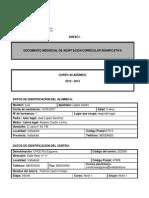 Documento Individual de Adaptacion Curricular Significativa