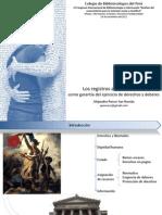 Los Registros Administrativos como Garantía del Ejercicio de Deberes y Derechos, Perú, SERVIR, Alejandro Ponce San Román