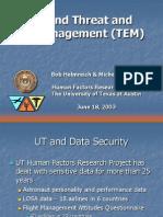 Trend and error management
