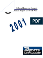 Annual Report and Work Plan 2001