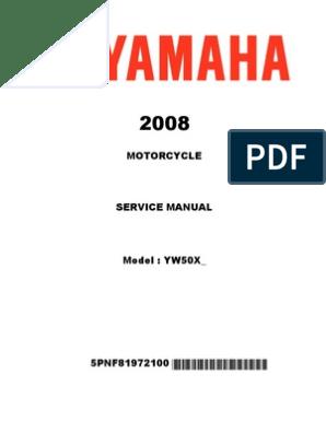 yamaha zuma scooter repair and maintenance manual | Screw | Nut
