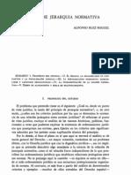 El principio de jerarquía normativa (Alfonso Ruiz Miguel)