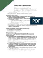 Procedimiento para la diálisis peritoneal