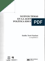 Nuevos temas en la agenda política educativa