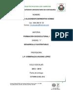 CONCLUSION DE FORMACION SOCIOCULTURAL