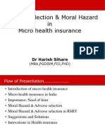 Adverse selection and Moral Hazard in Micro health insurance