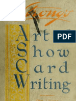 Strongs Art of Showcard Writing