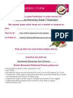 Pizza Fundraising Form