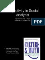 subjectivity in social analysis