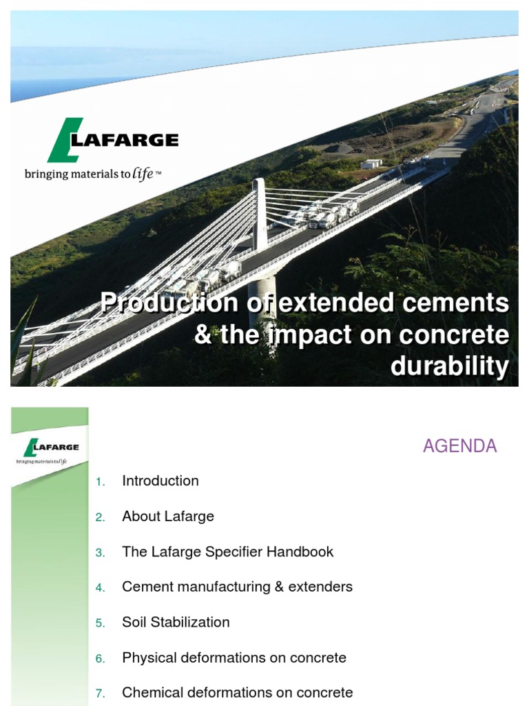 Lafarge The Production of extended cements & the impact on concrete  Durability | Creep (Deformation) | Concrete