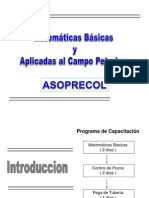 Matemáticas básicas y aplicadas al Campo Petrolero - ASOPRECOL