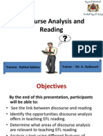 discourse analysis and reading