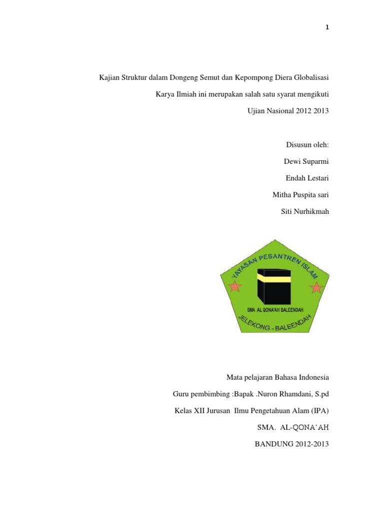 Kajian Struktur Dalam Dongeng Semut Dan Kepompong Diera