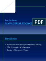 Managerial Economics:An Intro