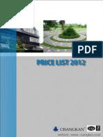 Pricelist 2012 Cisangkan