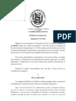 Sentencia de interpretación del artículo 231 de la Constitución - 9 - 1 - 2012