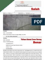 keluhan pelanggan ke kantor post dari Mahyudin