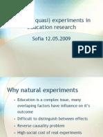 natural and quasi experiment