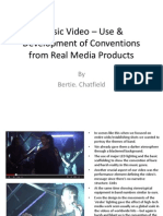 Music Video – Use & Development of Conventions in Real Media Products
