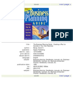 The Business Planning Guide Creating a Plan for Success in Your Own Business