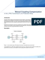 Using Parallel Line Mutual Coupling Compensation LPRO Distance Relay