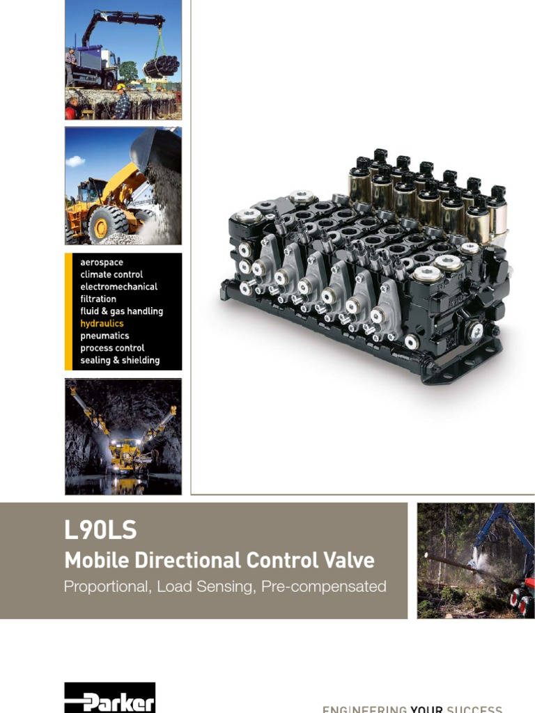 Hy17 8504 Uk L90 Valve Specification Technical Standard This Application Diagram Indicates How Loadsensing Valves Control