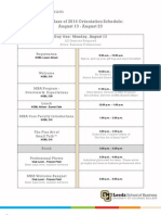 2012 Leeds School of Business, CU Boulder Orientation Schedule