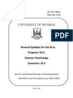 Syllabus MA 2012-2013 Onwards 4.16 Psychology