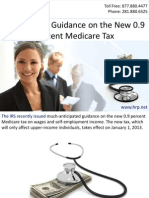 IRS Provides Guidance on the New 0.9 Percent Medicare Tax