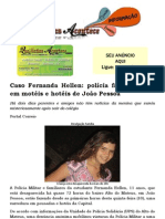 Caso Fernanda Hellen polícia faz varredura em motéis e hotéis de João Pessoa