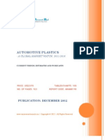 Automotive Plastics - A Global Market Watch, 2011 - 2016 - Broucher
