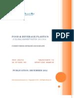Food & Beverage Plastics - A Global Market Watch, 2011 - 2016 - Broucher