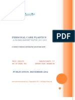Personal Care Plastics - A Global Market Watch, 2011 - 2016 - Broucher
