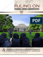 The Ruling on Muslims Attending Mixed Universities –  From The Islamic Verdicts of Various Major Scholars - Translated and Compiled by Mustafa George DeBerry