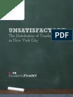 """Unsatisfactory"" StudentsFirstNY"