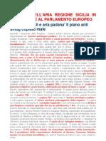 Il Piano Dell'Aria Regione Sicilia in Discussione Al Parlamento Europeo
