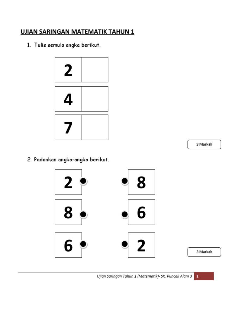 Ujian Saringan Maths