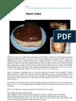 Glamorous Heart Cake