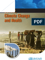 Gender climate change health