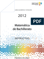 Instructivo matemática