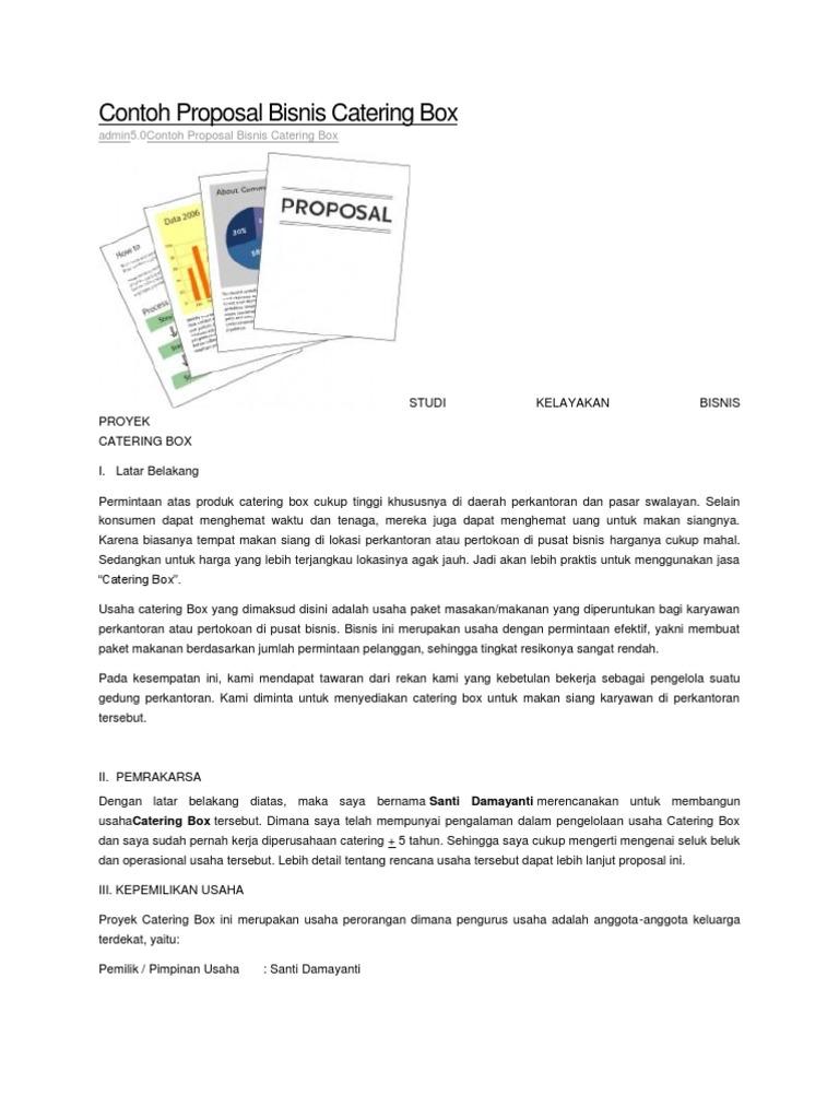 Contoh Proposal Bisnis Catering Box