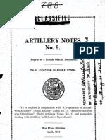 Artillerycounterbattery Notes