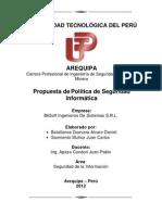 POLITICA DE SEGURIDAD INFORMATICA