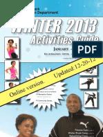 2013 Winter Activities Guide