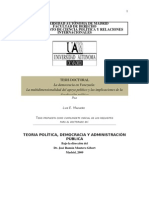 La democracia en Venezuela:La multidimensionalidad del apoyo político y las implicaciones de la desafección política