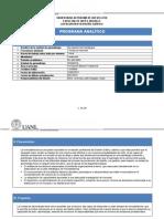 Programa Analítico de Mercadotecnia