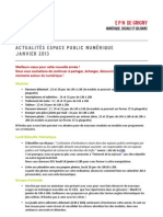 actualités - janvier 2013