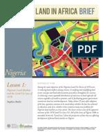 Nigeria Land Markets Nov2012