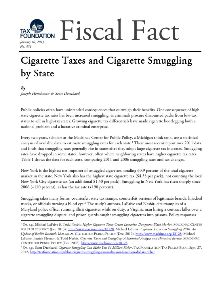 Tax Foundation Cigarettes | Smuggling (342 views)
